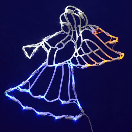 "LED Angel Window Decor 17"" x 14"""