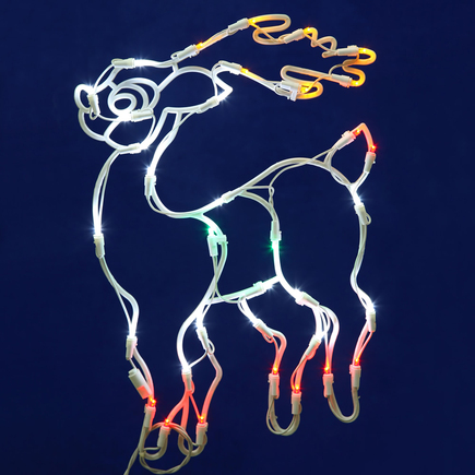 "LED Reindeer Window Decor 17"" x 13"""