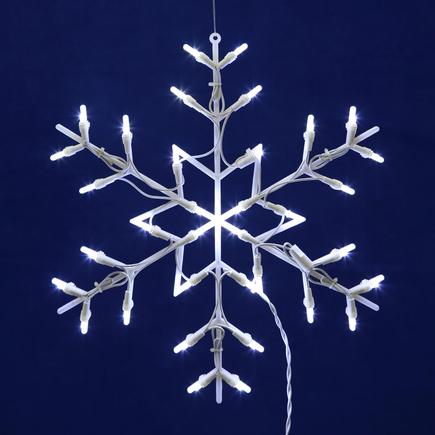 "LED Snowflake Window Decor 16"" x 16"""