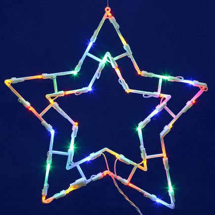 "LED Star Window Decor 15"" x 15"""