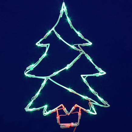 "LED Tree Window Decor 18"" x 12"""