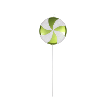"""Large Lollipop Ornament 24"""" Lime"""