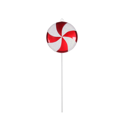 "Lollipop Ornament 17"" Peppermint"