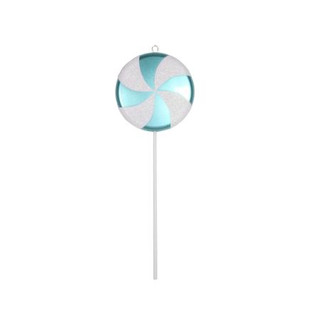 """Large Lollipop Ornament 24"""" Teal"""
