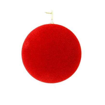 "Soft Felt Ball Ornament 6"" Set of 4 Red"