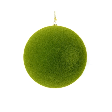 "Soft Felt Ball Ornament 4"" Set of 6 Moss"