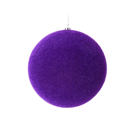 "Soft Felt Ball Ornament 4"" Set of 6 Purple"