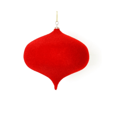 "Soft Felt Onion Ornament 6"" Set of 4 Red"