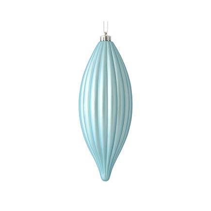 """Victoria Drop Ornament 8"""" Set of 4 Ice Blue"""