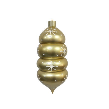 "Winter Drop Finial 21.5"" Champagne"