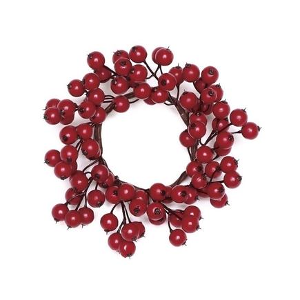 "Mini Rosehip Wreath 9"" Set of 4"