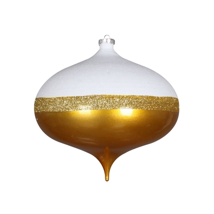 "Neve Onion Ornament 8"" Set of 2 Gold"