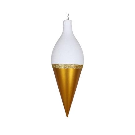 """Neve Drop Ornament 12"""" Set of 2 Gold"""