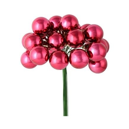 Joy Shiny Ball Pick Set of 2 Berry