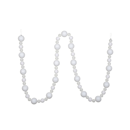 Bella Ball Garland 9' White
