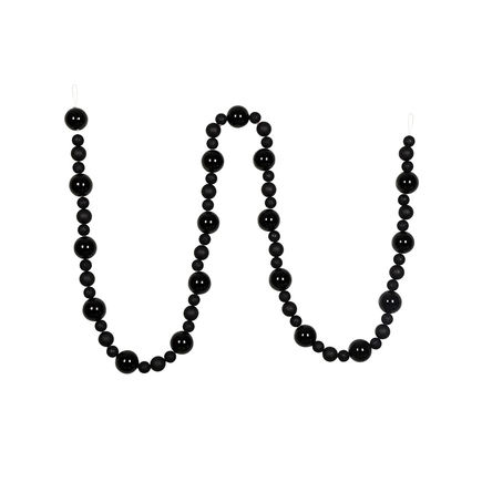 Bella Ball Garland 9' Black