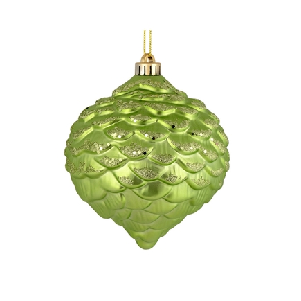 "Clara Pinecone Ornament 6"" Set of 6 Celadon"