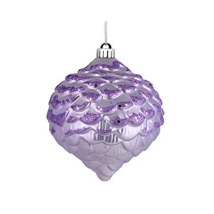 "Clara Pinecone Ornament 6"" Set of 6 Lavender"