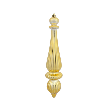 "Noel Drop Ornament 14"" Set of 2 Gold Shiny"
