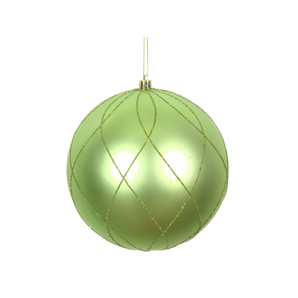 "Noelle Ball Ornament 8"" Set of 2 Celadon"