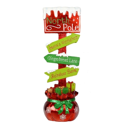"""Outdoor North Pole Sign Figure 37"""""""
