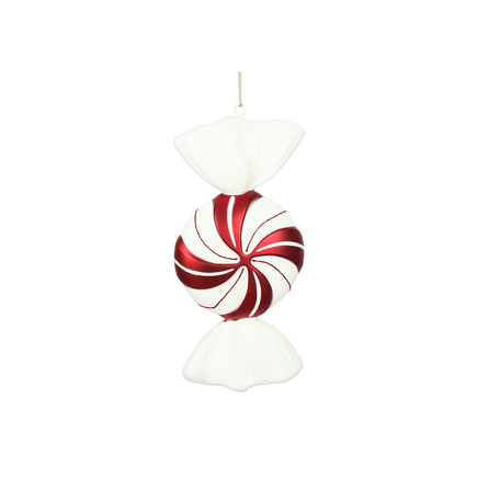 """Old Fashioned Peppermint Ornament 12"""" Set of 2"""