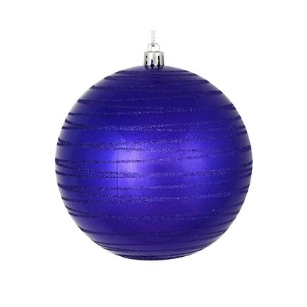 "Orb Ball Ornament 6"" Set of 3 Purple"