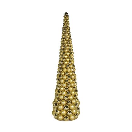 5' Ornament Cone Tree Gold