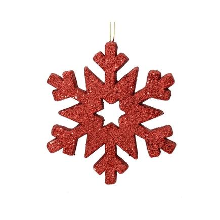 "Outdoor Glitter Snowflake 12"" Burgundy"