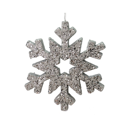 """Outdoor Glitter Snowflake 12"""" Pewter"""