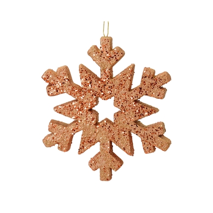 "Outdoor GlitterSnowflake 12"" Rose Gold"