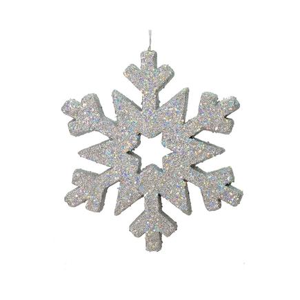 "Outdoor Glitter Snowflake 12"" Silver"