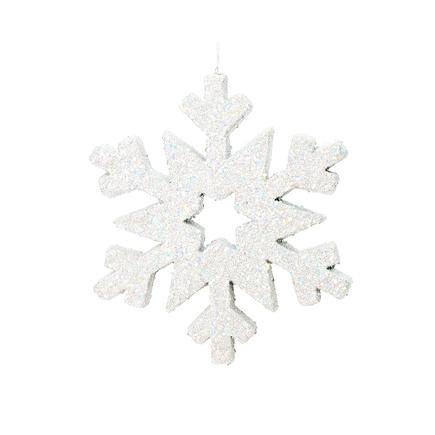 """Outdoor Glitter Snowflake 12"""" White"""