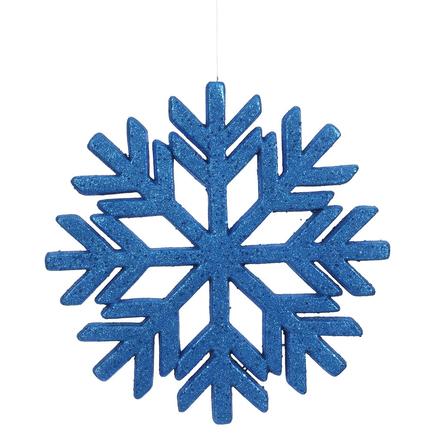 "Outdoor Diamond Snowflake 18"" Blue"