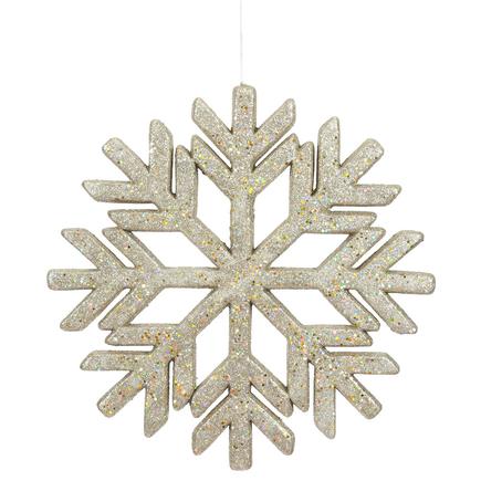 "Outdoor Diamond Snowflake 18"" Champagne"
