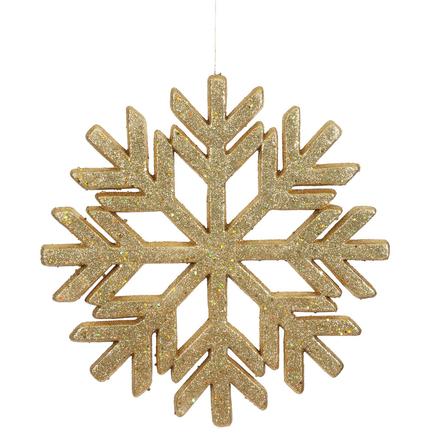 """Outdoor Diamond Snowflake 18"""" Gold"""