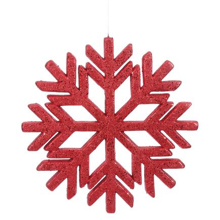"Outdoor Diamond Snowflake 18"" Red"