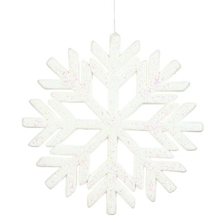 """Outdoor Diamond Snowflake 18"""" White"""
