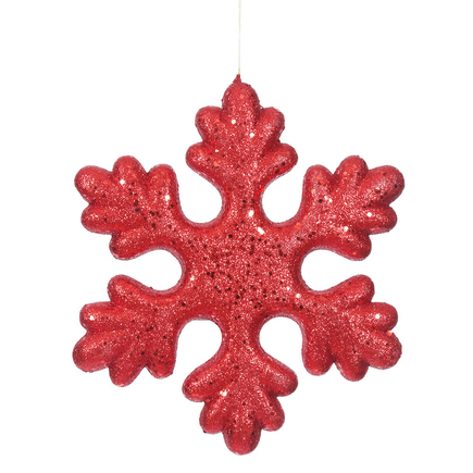 "Outdoor Fancy Snowflake 15"" Set of 2 Red"