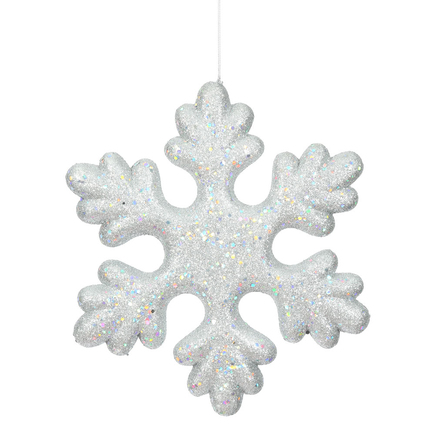 """Outdoor Fancy Snowflake 15"""" Set of 2 Silver"""