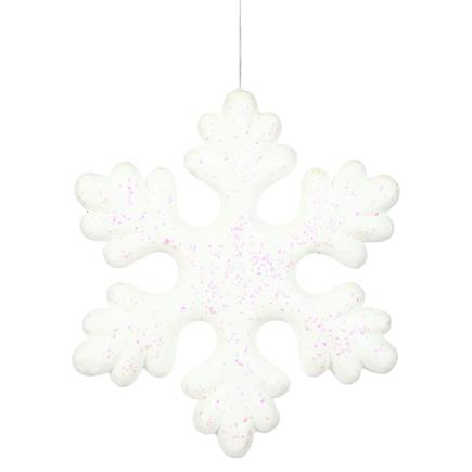 "Outdoor Fancy Snowflake 15"" Set of 2 White"