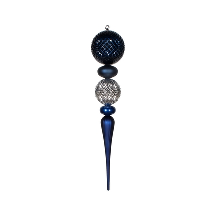 "Eva Giant Finial 33"" Midnight/Silver"