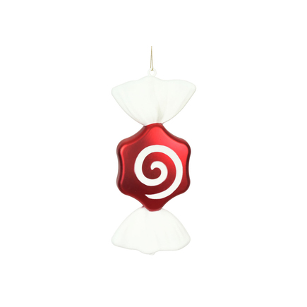 """Peppermint Sugar Candy Ornament 12"""" Set of 2"""