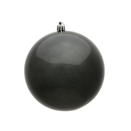"""Pewter Ball Ornaments 4.75"""" Candy Finish Set of 4"""