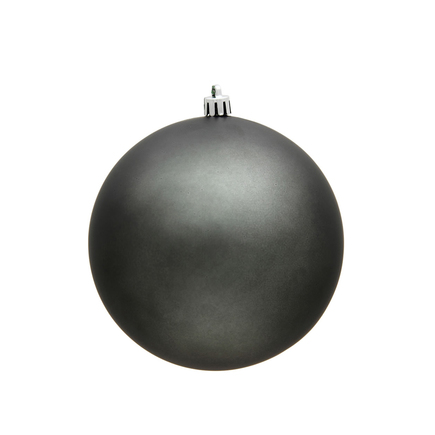 """Pewter Ball Ornaments 6"""" Matte Set of 4"""
