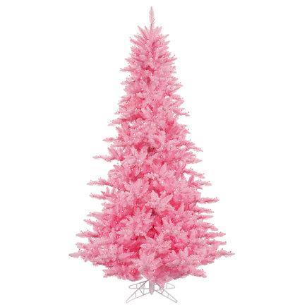 10' Pink Fir Full w/ LED Lights