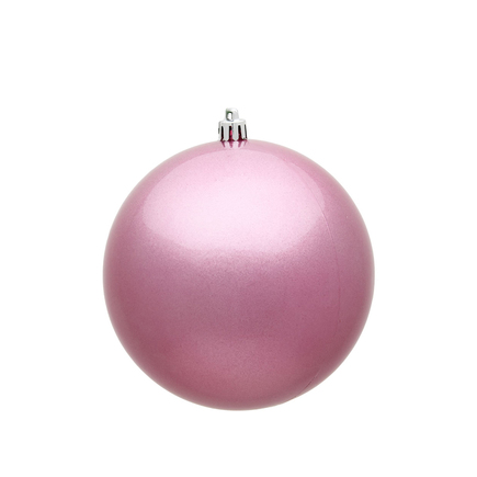 """Pink Ball Ornaments 10"""" Candy Finish Set of 2"""