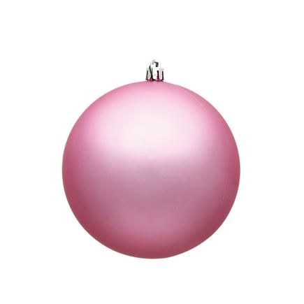 "Pink Ball Ornaments 8"" Matte Set of 4"