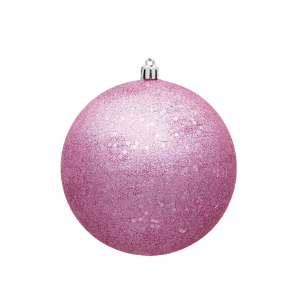 """Pink Ball Ornaments 4"""" Sequin Set of 6"""