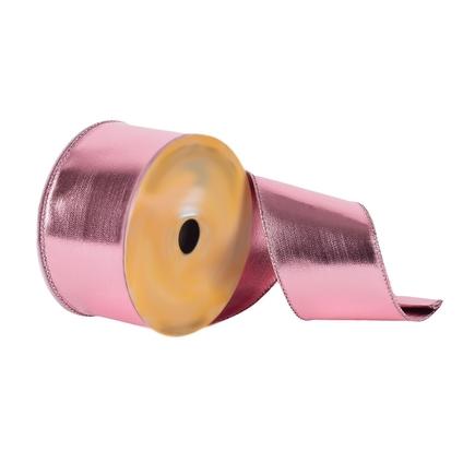 """Metallic Ribbon 2.5"""" Pink"""